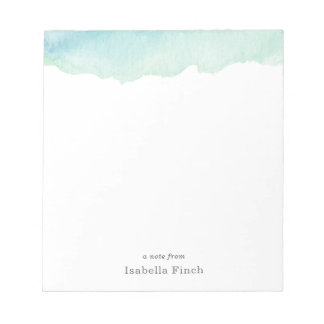 Turquoise Watercolor Notepad