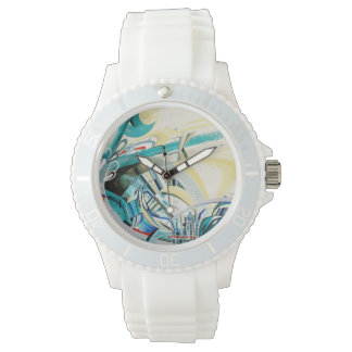 Turquoise Wave Sports Watch