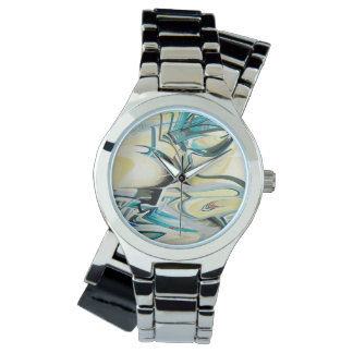 Turquoise Wave Time Piece Watch