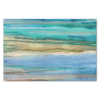 Turquoise Waves Tissue Paper
