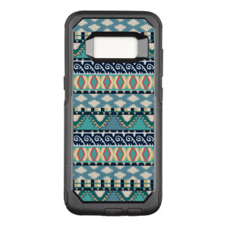 Turquoise Waves Tribal Pattern with Blue and Pink OtterBox Commuter Samsung Galaxy S8 Case