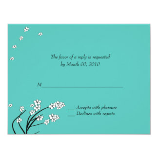 Turquoise Wedding Invitation Reply Cards