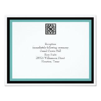Turquoise Wedding Reception Card 11 Cm X 14 Cm Invitation Card