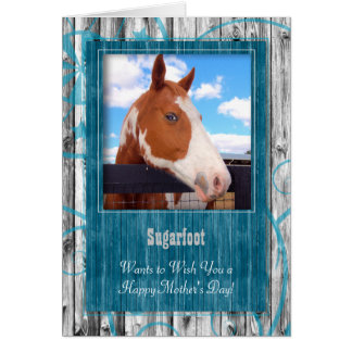 Turquoise Western Themed from the Horse Photo Greeting Card