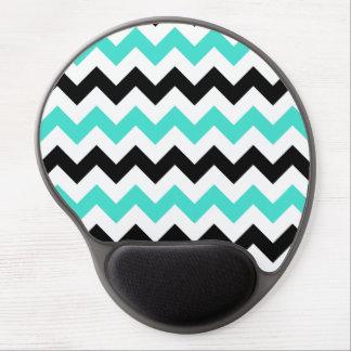 Turquoise White Black Zigzag Gel Mouse Mat