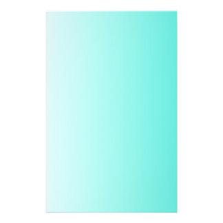 Turquoise White Ombre 14 Cm X 21.5 Cm Flyer