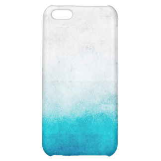 Turquoise & White Ombre Distressed Watercolor iPhone 5C Cases