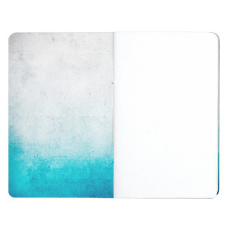 Turquoise & White Ombre Distressed Watercolor Journal