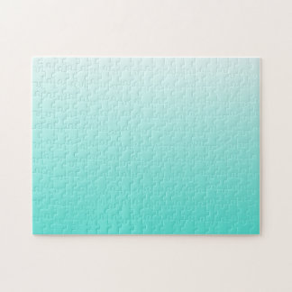 Turquoise White Ombre Jigsaw Puzzle