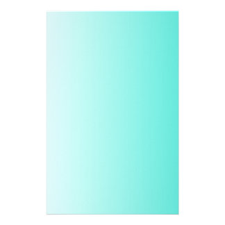 Turquoise White Ombre Stationery