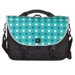 Turquoise white polka dots