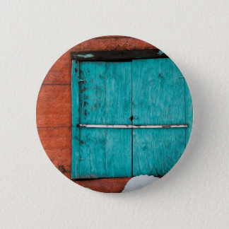 Turquoise Window 6 Cm Round Badge