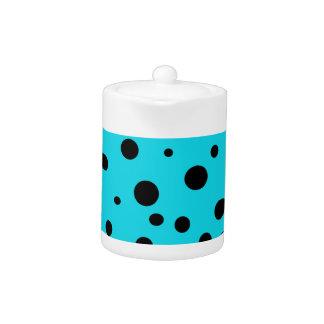 Turquoise with Black Polka Dots Fashion Fun