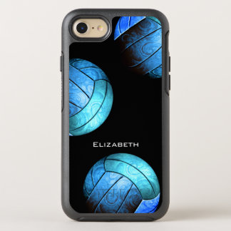 turquoise women's volleyball OtterBox symmetry iPhone 8/7 case