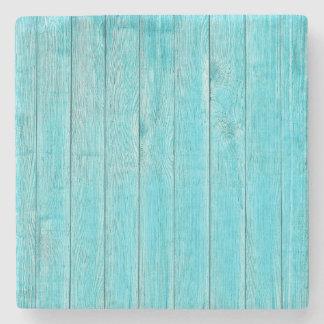 Turquoise Wood Texture Stone Coaster
