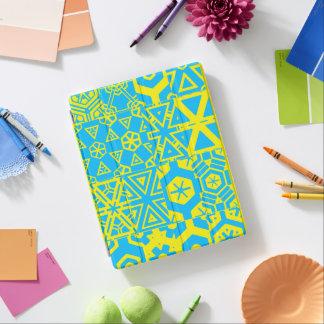 Turquoise yellow geometric 4Terrence iPad Cover