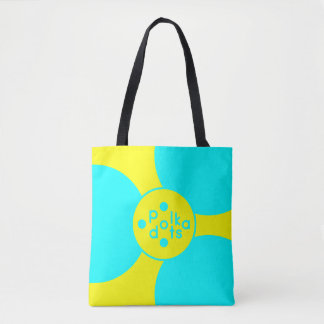 Turquoise & Yellow Medium All-Over-Print Tote Bag