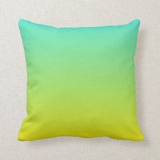 Turquoise Yellow Ombre Cushion