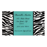 Turquoise Zebra Business Cards