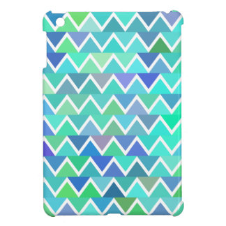 Turquoise Zigzag Pattern Cover For The iPad Mini