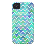 Turquoise Zigzag Pattern iPhone 4/4S Case iPhone 4 Cover