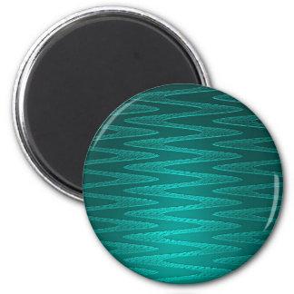 Turquoise Zigzag Pattern Magnet