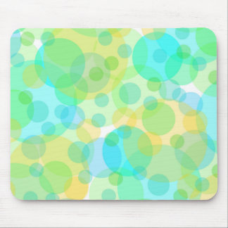Turquosie Green Yellow Circles Bubbles Modern Art Mouse Pads