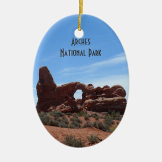 Turret Arch- Arches National Park Ceramic Oval Decoration