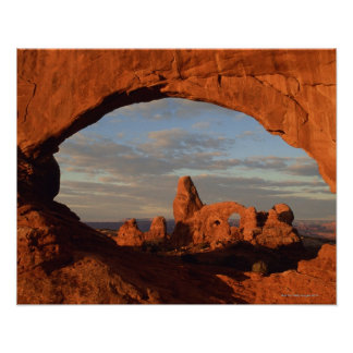 Turret Arch seen through North Window , Arches Poster