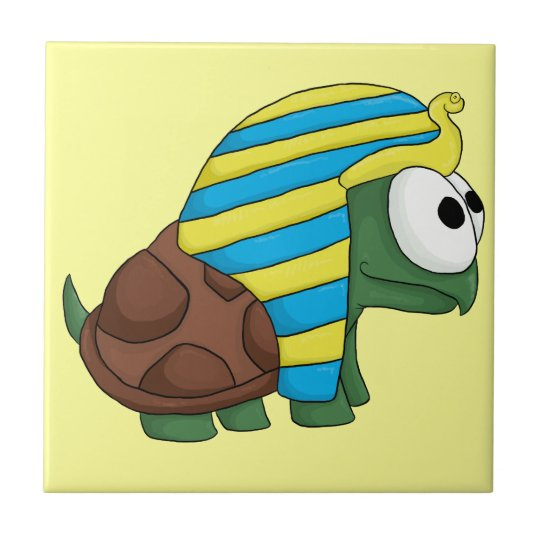 Turtankhamun cute Egyptian turtle design Tile