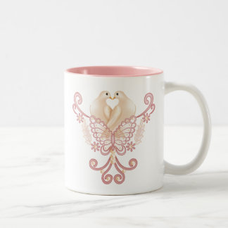 Turteltauben - Love Doves Two-Tone Coffee Mug