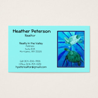 turtle2, Heather Peterson, Realtor, Realty In t... Business Card