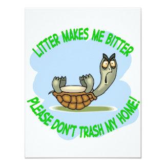 turtle 11 cm x 14 cm invitation card