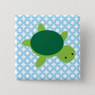Turtle 15 Cm Square Badge