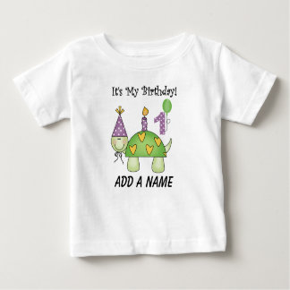 Turtle 1st Birthday Personalized Tshirt