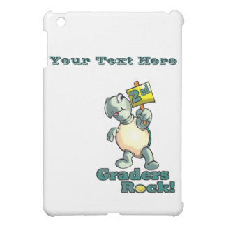 "Turtle ""2nd Graders Rock"" Design iPad Mini Cases"