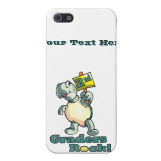 "Turtle ""2nd Graders Rock"" Design iPhone 5/5S Case"