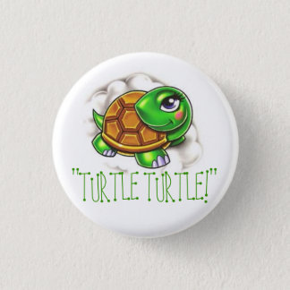 turtle 3 cm round badge