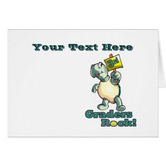 "Turtle ""3rd Graders Rock""  Design Greeting Card"