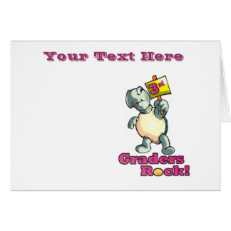 "Turtle ""3rd Graders Rock""  Design Greeting Card"