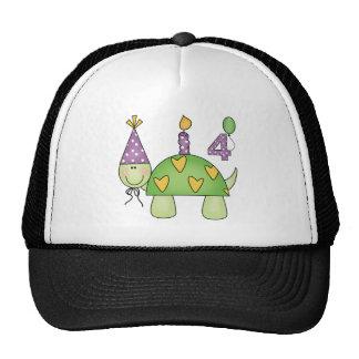 Turtle 4th Birthday Gifts Cap