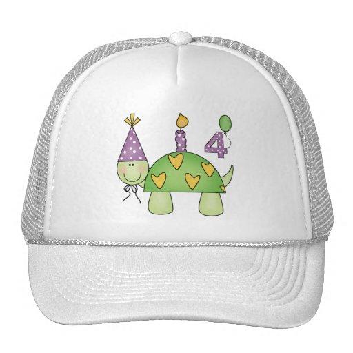Turtle 4th Birthday Gifts Mesh Hat
