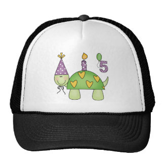 Turtle 5th Birthday Gifts Mesh Hats
