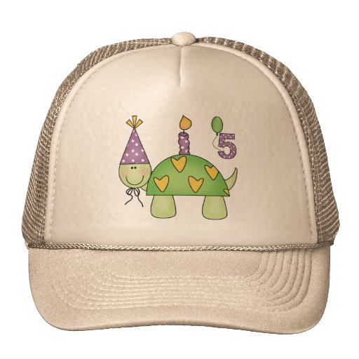 Turtle 5th Birthday Gifts Hats