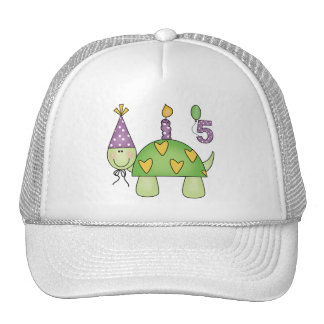 Turtle 5th Birthday Gifts Trucker Hat