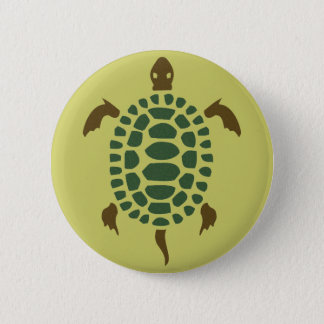 Turtle 6 Cm Round Badge