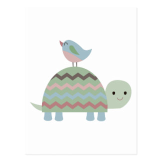 TURTLE AND BIRD POSTCARD