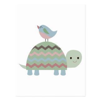 TURTLE AND BIRD POSTCARD
