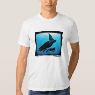 Turtle And Diver - Fitted. Organic (mens) Tees
