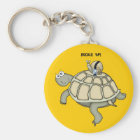 Turtle and snail BUCKLED UP Key Ring